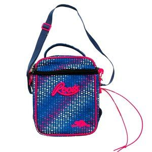 Roots Blue Heart Print Lunch Bag